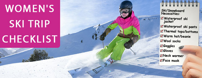 what to take on a ski trip women