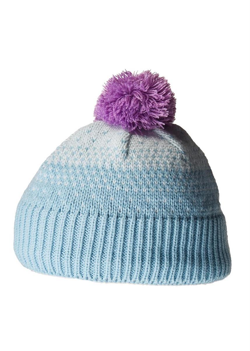 Pink and Real Teal Pompom Hat