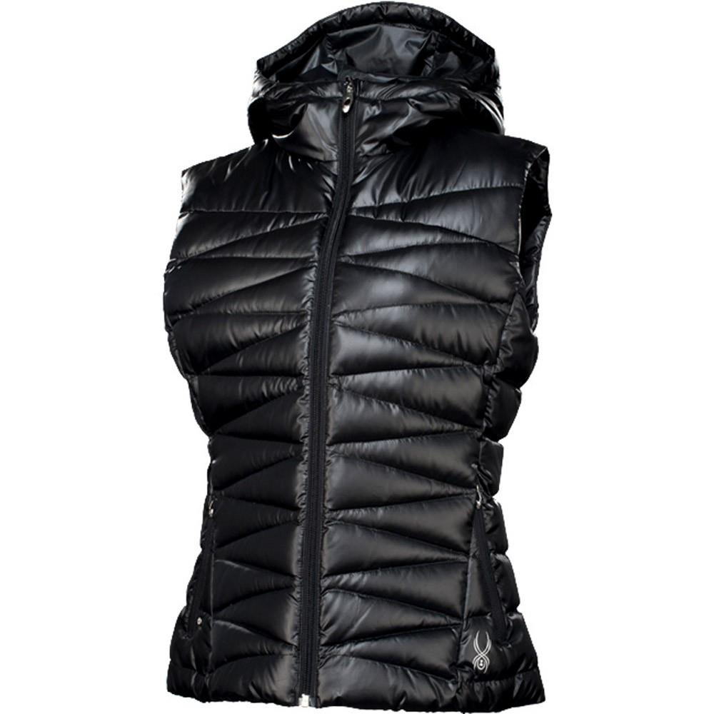 3215530691 Spyder Timeless Hoody Down Vest Womens. Loading zoom. Black Silver ...