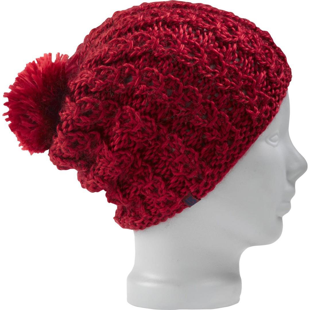Textured Knitted Beanie - Burgundy Burton Menswear RViRUnm