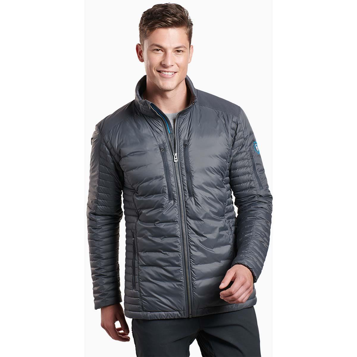 Kuhl Spyfire Mens Insulated Down Hoodie Carbon