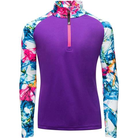 Spyder Surface Zip T-Neck - Girl's