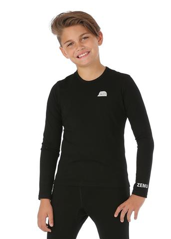 Zemu Solid First Layer Long Sleeve Crewneck - Youth