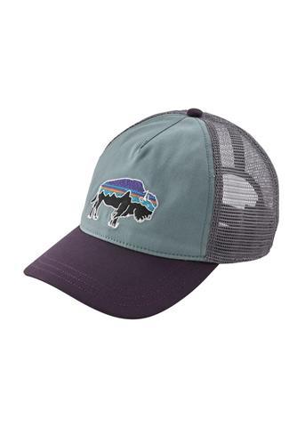 Patagonia Fitz Roy Bison Layback Trucker Hat Womens