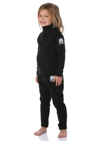 Zemu Apparel Little Girls Black Fleece Set - Youth