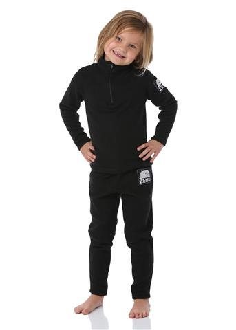Zemu Apparel Junior Girls Black Fleece Set Youth