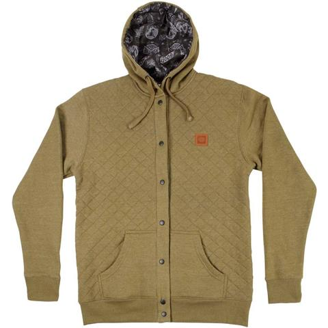 686 Quilted Snap Up Hoodie Mens