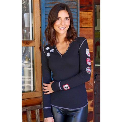 Alp N Rock Ski Lift Henley Womens