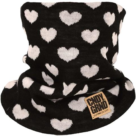 CandyGrind Heart Knitted Neck Gaiter Womens
