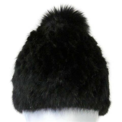 Mitchies Matchings Mink Hat with Fox Pom Womens