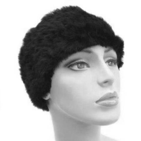 Mitchies Matchings Rabbit Fur Headband Womens