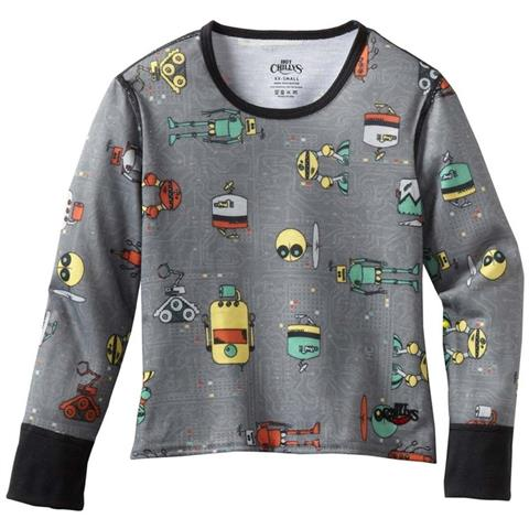 Hot Chillys Mid Weight Print Crew Neck Youth