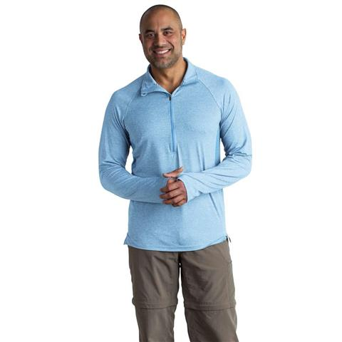 Exofficio Bugsaway Sol Cool Zip Neck LS Mens