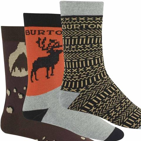 Burton Apres Sock 3 Pack Mens