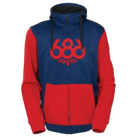 686 Icon Zip Bonded Fleece Hoody Mens