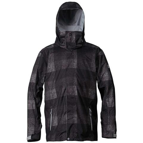 Quiksilver Mission Irish Plaid Insulated Jacket Mens
