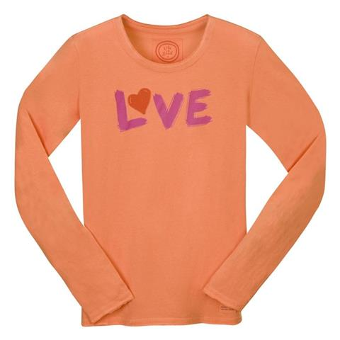 Life is good Fitted Love Crusher Longsleeve Shirt Womens
