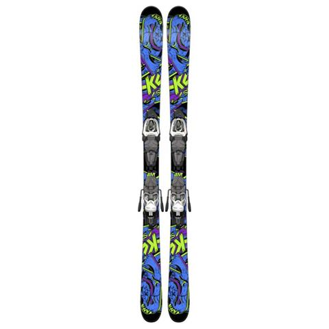 K2 Juvy Skis with Marker Fastrak2 4.5 Bindings Youth