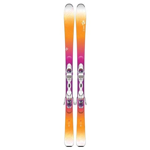 K2 Luv Struck 80 Skis with Marker ER3 10 TC Bindings Womens