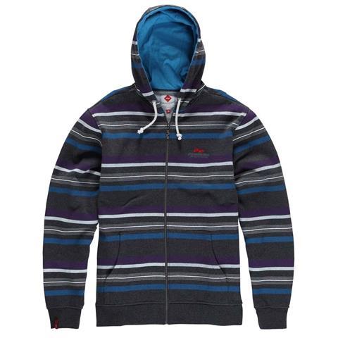 Foursquare Multi Stripe Full Zip Hoodie Mens