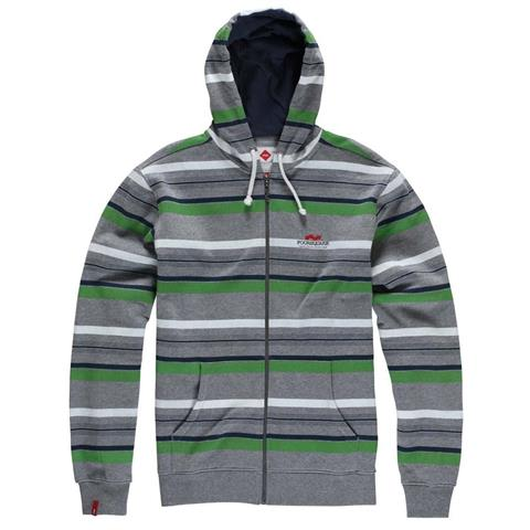 Foursquare Multi Stripe Full Zip Hoodie Mens