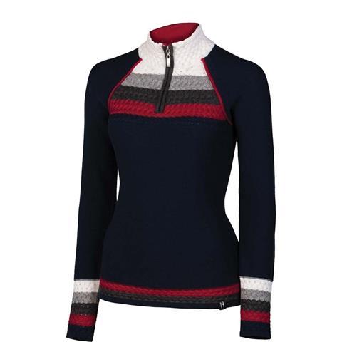 Neve Taylor Zip Neck Sweater Womens