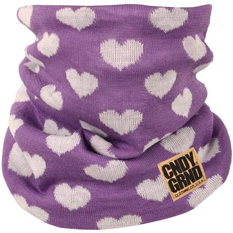 Candy Grind Heart Knitted Neck Gaiter Womens