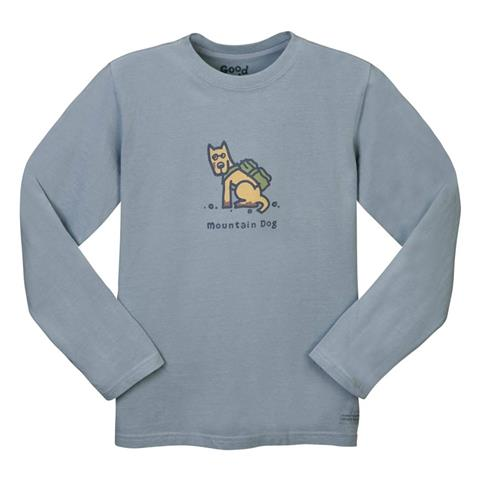 Life is good Mountain Dog Crusher Longsleeve Tee Boys