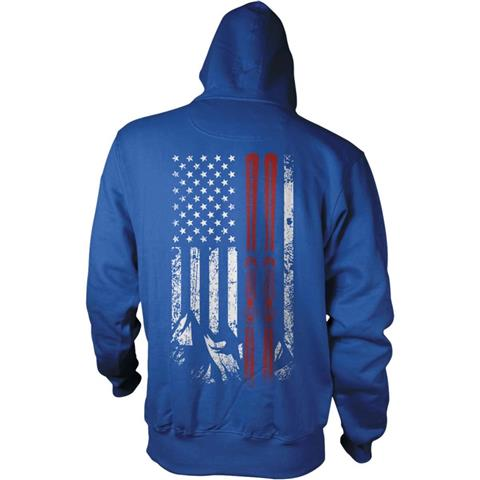 Teevogue USA Ski Flag Hoodie
