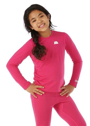 Zemu Solid First Layer Long Sleeve Crewneck - Girl's