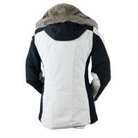 White Obermeyer Siren Jacket w/Faux Fur Womens
