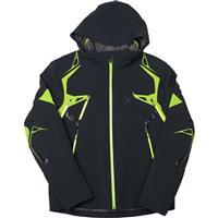 Black / Theory Green / Bryte Yellow Spyder Pinnacle Jacket Mens