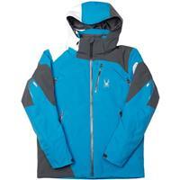 Electric Blue / Polar / White Spyder Leader Jacket Mens