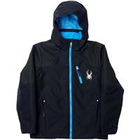 Black / Black / Electric Blue Spyder Squaw Jacket Boys
