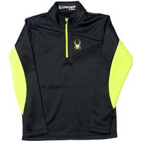 Black / Theory Green Spyder Charger Therma Stretch T Neck Boys