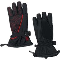 Black / Volcano Spyder Overweb Gloves Boys