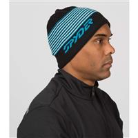 Spyder Uslope Hat - Men's - Black / Electric Blue / White