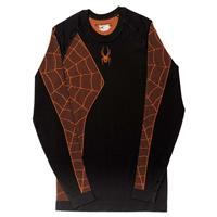 Black / Bryte Orange Spyder Skeleton Top Mens