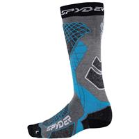 Spyder Zenith Socks - Men's - Image Gray / Black / Electric Blue