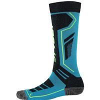 Electric Blue / Black / Bryte Yellow Spyder Sport Merino Sock Boys