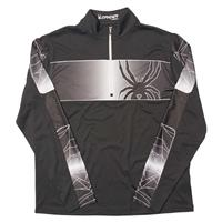 Black / Cirrus Spyder Powertrack Dry Web T Neck Mens