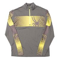 Polar / Bryte Yellow Spyder Powertrack Dry Web T Neck Mens