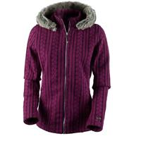 Bordeaux Obermeyer Sadie Cable Knit Jacket Womens