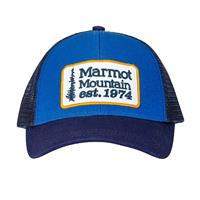Blue Night Marmot Youth Retro Trucker Hat