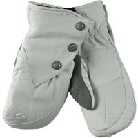 White Obermeyer Gates Leather & Down Mitt Womens