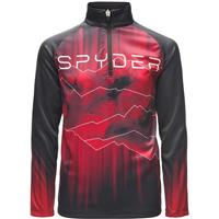 Black / Red / Black Spyder Limitless Rising Zip T Neck Boys