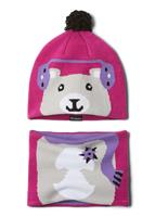 Pink Ice Bear Columbia Infant Snow More Hat and Gaiter Set Youth