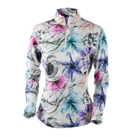 X Ray Floral Obermeyer Sage Sport 75wt Zip Top Womens