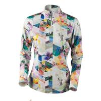 Chevron Floral Obermeyer Sage Sport 75wt Zip Top Womens
