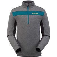 Ebony Spyder Encore Half Zip Fleece Jacket Mens